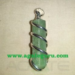 Green Aventurine Wire Wrapped Stone Pendants