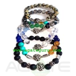Mix Bracelets with lion face
