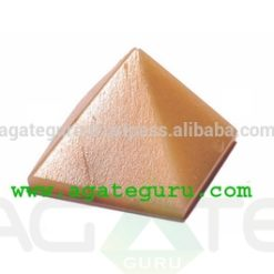Orange Moonstone Pyramid : Wholesale Pyramids Khambhat Supplier