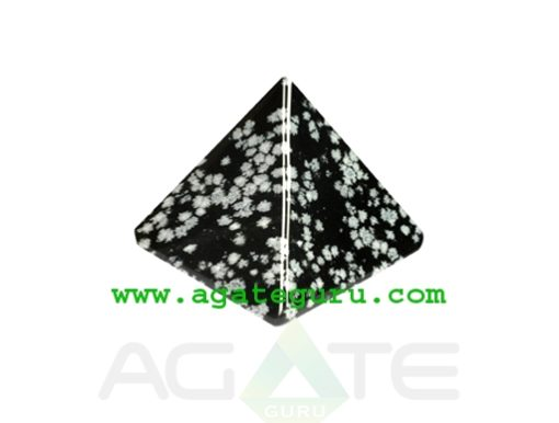 Snowflake Obsidian Pyramid : Wholesale Pyramids Khambhat Supplier
