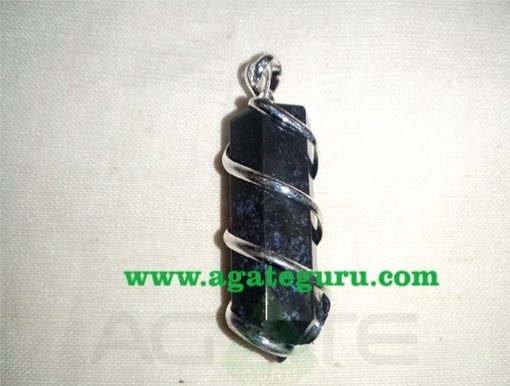 Sodalite Natural Wire Wrapped Stone Pendants