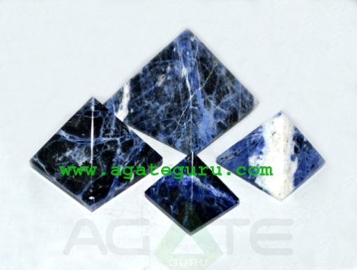 Sodalite Pyramids : Wholesale Pyramids Khambhat Supplier