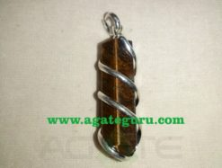 Tiger Eye Hand Wrapp Wrapped Pendants