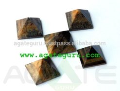 Tiger Eye Pyramids | Wholesale Pyramids Khambhat Supplier