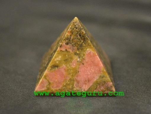 Unakite pyramid : Wholesale Pyramids Khambhat Supplier