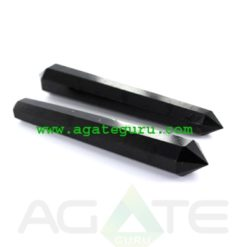 Wholesale massage wands :Black Tourmaline 16 facets wands