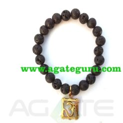lava beads om bracelet : India wholesaler Manufacturer