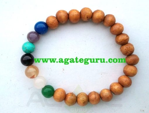 7 Chakra With Wooden Beads