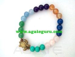 7 Chakra With Turtle : Power Bracelet