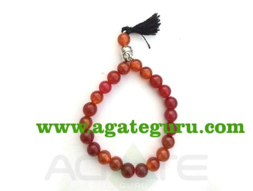 Red Carnelian With Buddha Braclet