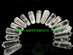 Rock Quartz 12 Cut Double Terminated Massage Wands : india massage wand wholesaler