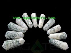 Tree Agate 12 Cut Double Terminated Massage Wands : india massage wand wholesaler