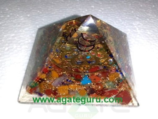 7Chakra Flower Of Life Fency Orgone pyramid