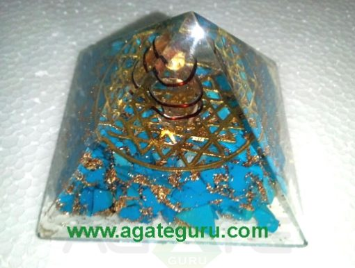 Flower Of Life Touqoish Orgone Pyramid