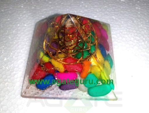 Gems tumble Mix Colour Orgone Pyramid