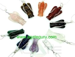 Assorted Angel Healing Wire Wrape Pendents