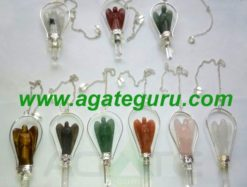Mix Crystal Angels Pendulums : Wholesale Gemstone Angels