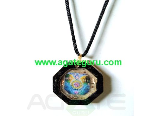 Hand Made Wooden Orgone Energy Pendant