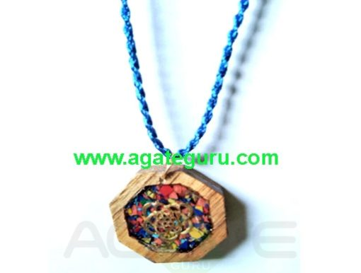 High Intention For Healing Orgone Wooden Necklace