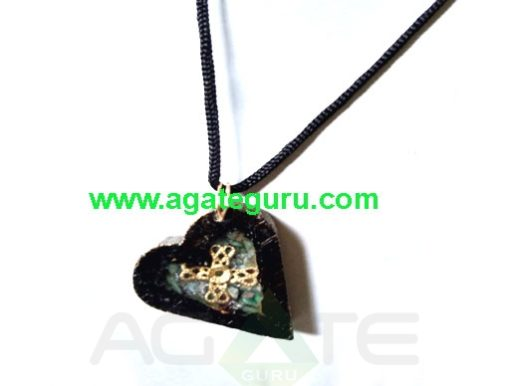 High Intention For Healing Orgone Wooden Necklace Pendent