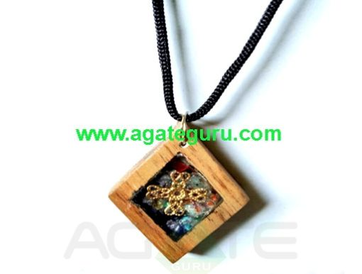 High Quality Healing Orgone Wooden Necklace Pendent