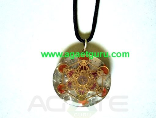 Orgonite pendant Flower of life healing Handmade