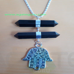 Agagte-Pencil-Long-Pendent-With-Hamsha