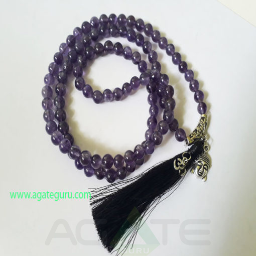 Amethyst-Natural-Beads-Jaap-Mala-with-Buddha