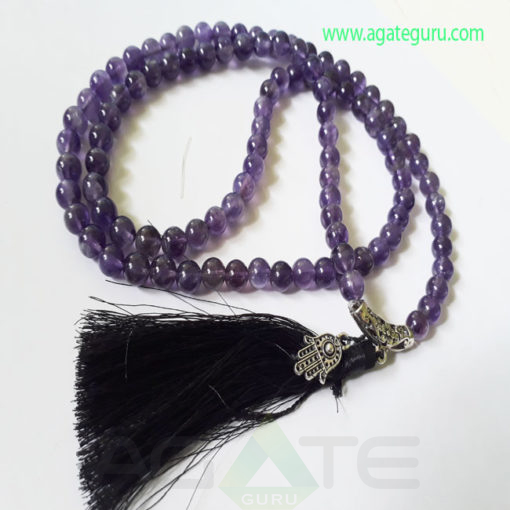 Amethyst-Natural-Beads-Jaap-Mala-with-Hamsha