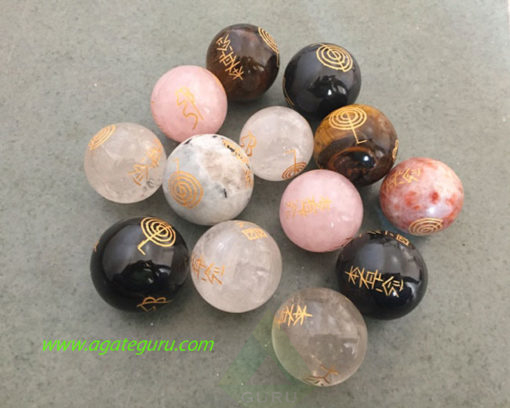 Assorted-Engrave-Usai-Reiki-Set-Spheres