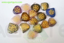 Assorted-Heart-Engrave-Star-Pendant