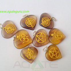 Assorted-Multi-Floride-Engrave-Heart-Pendant