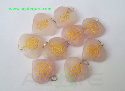 Assorted-Rose-Quartz-Engrave-Heart-Pendant