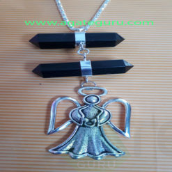 Black-Crystal-Long-Pendent-With-Metal-FAiry