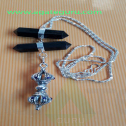 Black-Tourmuline-Long-Pendent-With-Vajra
