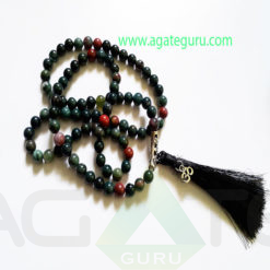 Blood-Stone-Natural-Beads-Jaap-Mala-With-Om