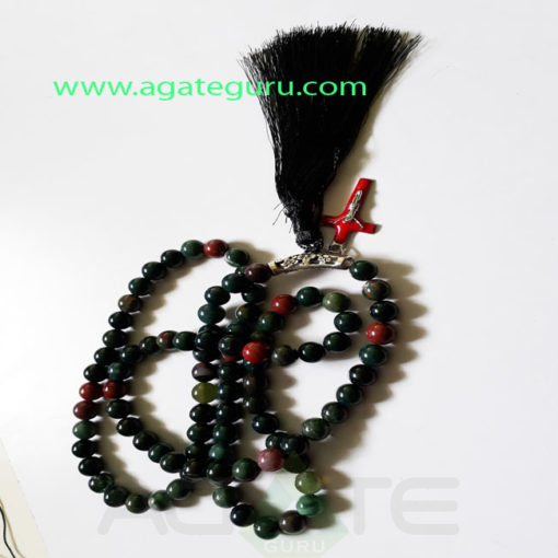 Blood-Stone-Natural-Beads-Jaap-Mala-with-Cross