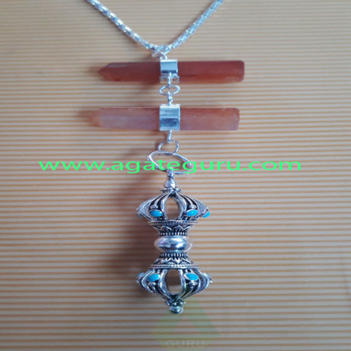 Crystal-Pencil-Pendent-With-Vajra