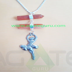 Gemstone-Pencil-Pendent-With-Metal-doll