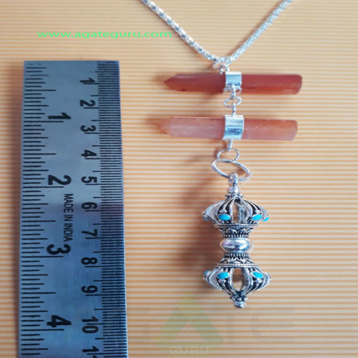 Gemstone-pencil-Long-Pendent-With-Dorje