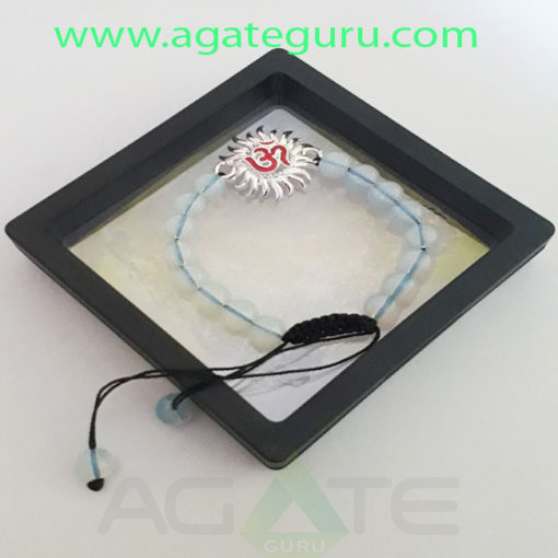 Opalite-Beads-sun-Om-Charm-Bracelet-With-Gift-Box