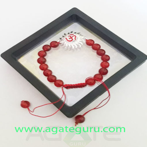Red-Carnelin-Beads-Charm-Bracelet-With-Gift-Box