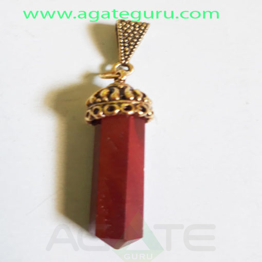 Red-JEsper-Gemstone-Pencil-Cap-Pendent