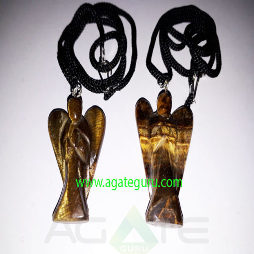 Tiger-Eye-Gemstone-Angel-Pendent