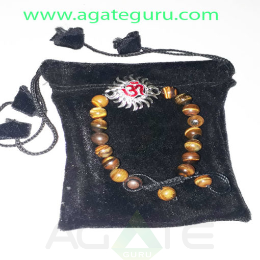 Tiger-eye-Beads-Bracelet-With-sun-Charm