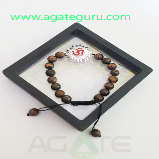 Tiger-eye-Beads-Hand-Made-Bracelet-With-Gift-Box