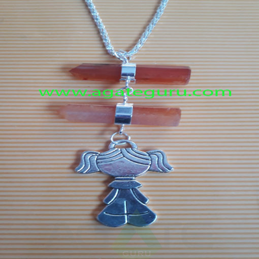 red-Carnelian-Pencil-Pendent-With-Metal-Fairy