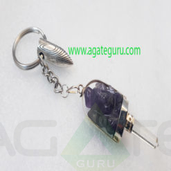 Amethyst-Crystal-Ganesha-Key-Ring