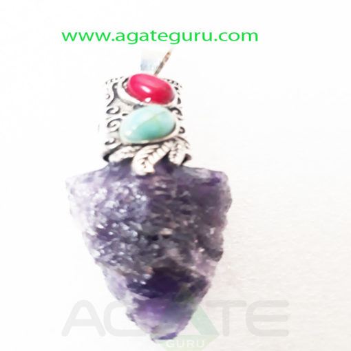 Amethyst-Rough-fency-Pendent