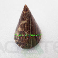 Aragonite-Natural-Gemstone-Cone-Pyramid